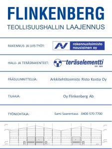 Flinkenberg raudoitetehdas - teollisuushallin laajennus