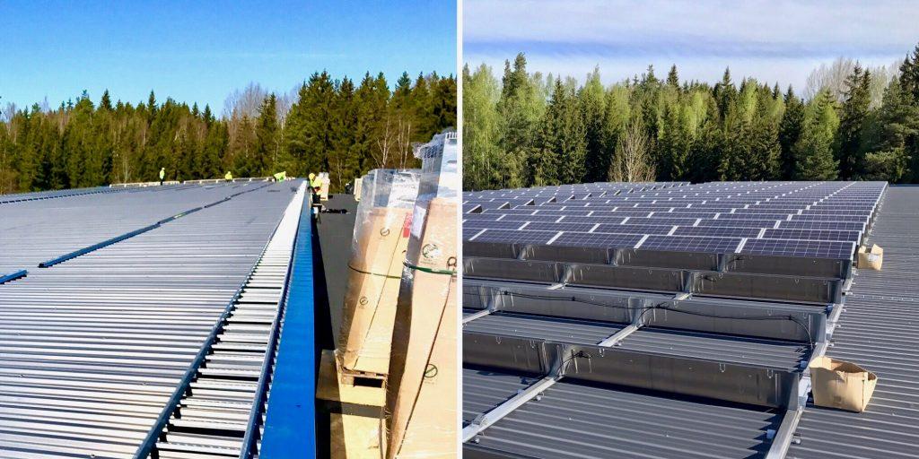 Aurinkopaneelien asennus Flinkenberg